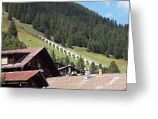 The Funicular In Murren Greeting Card