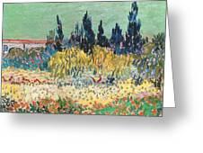 The Garden At Arles, Detail Greeting Card