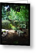 The Garden Bench Greeting Card