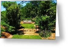 The Garden Bench Greeting Card