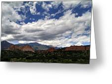The Garden Of The Gods Greeting Card