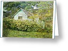 The Garden Shed Greeting Card by Dianne  Lacourciere
