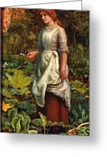 The Gardeners Daughter Greeting Card