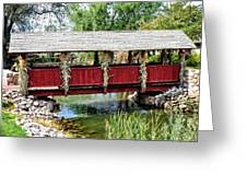 The Gardner Villiage Bridge Greeting Card