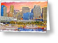 The Garish City Cincinnati Greeting Card