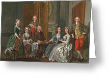 The Gascoigne Family, C.1740 Greeting Card