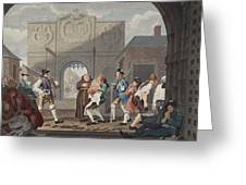 The Gate Of Calais, Or O The Roast Beef Greeting Card