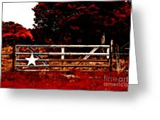 The Gate To Texas  Greeting Card