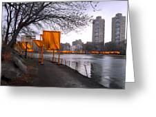 The Gates - Central Park New York - Harlem Meer Greeting Card by Gary Heller