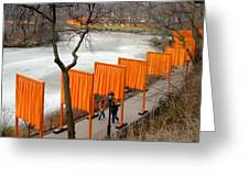 The Gates In Central Park Greeting Card