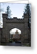 The Gates Leading Into New Sigulda Castle Greeting Card