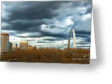 The Gateway Arch Downtown St. Louis Greeting Card