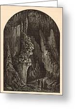 The Geyser 1872 Engraving Greeting Card by Antique Engravings