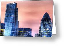 The Gherkin And The Cheesgrater London Greeting Card