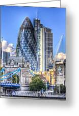 The Gherkin And Tower Bridge Greeting Card