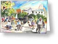 The Ghost Of Don Quijote In Alcazar De San Juan Greeting Card