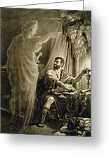 The Ghost Of Julius Caesar, In The Play Greeting Card