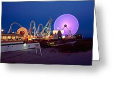 The Giant Wheel At Night  Greeting Card