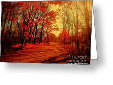 The Ginger Path Greeting Card