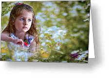 The Girl And The Butterfly Greeting Card