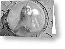 The Girl In The Bubble Greeting Card