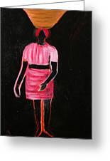 The Girl In The Shadow Greeting Card