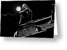The Girl On The Roof Greeting Card