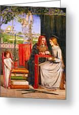 The Girlhood Of Mary Virgin Greeting Card