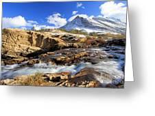 The Glacier Rush Greeting Card