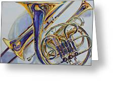 The Glow Of Brass Greeting Card by Jenny Armitage
