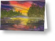 The Glow Of Maine Greeting Card