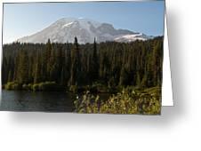 The Glow Of Mount Rainier Greeting Card