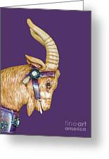 The Goat Who Likes Purple Greeting Card