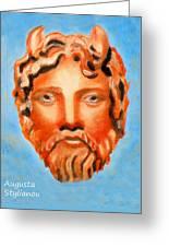 The God Jupiter Or Zeus.  Greeting Card