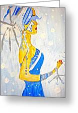 The Goddess Of Winter Greeting Card