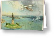 The 'gold Bug' Biplane  Designed Greeting Card