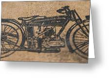 The Gold Medal Motorcycle 1925 Greeting Card