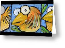 The Goldbird Trio Greeting Card