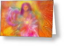 The Golden Deva Greeting Card