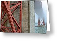 The Golden Gate - Fort Point View Greeting Card