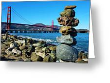 The Golden Gate Rock Pile Greeting Card