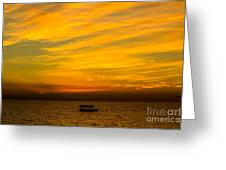 The Golden Sky That Mesmerize  Greeting Card