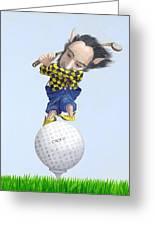 The Golfer Greeting Card