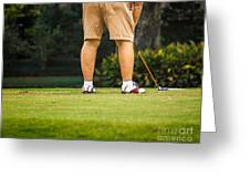 The Golfer Greeting Card