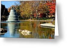 The Goodale Park  Fountain Greeting Card