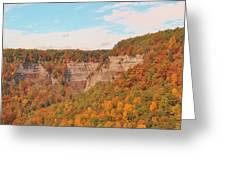 The Gorge In Autumn Greeting Card