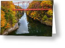 The Gorge Square Greeting Card by Bill Wakeley