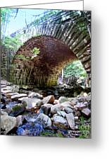 The Gorge Trail Stone Bridge Greeting Card