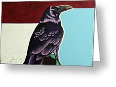 The Gossip - Raven Greeting Card