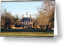 The Governor's Palace Greeting Card